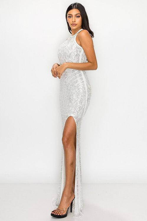 BJL20 61024 WHITE MAXI DRESS