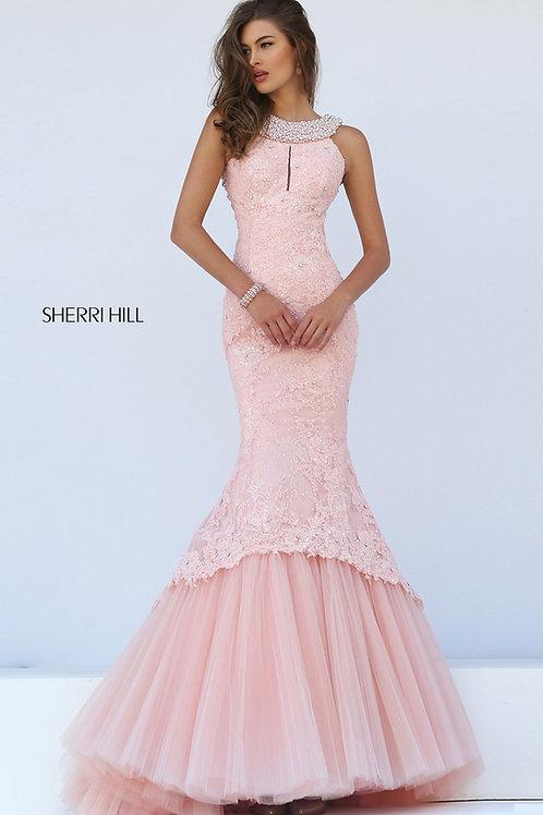 Sherri Hill 50112 BLUSH Size: 6