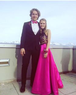😻😻😻 #WestProm #jovanifashions #hotpink #twopiece #ballgown #Alaska #prom2k17