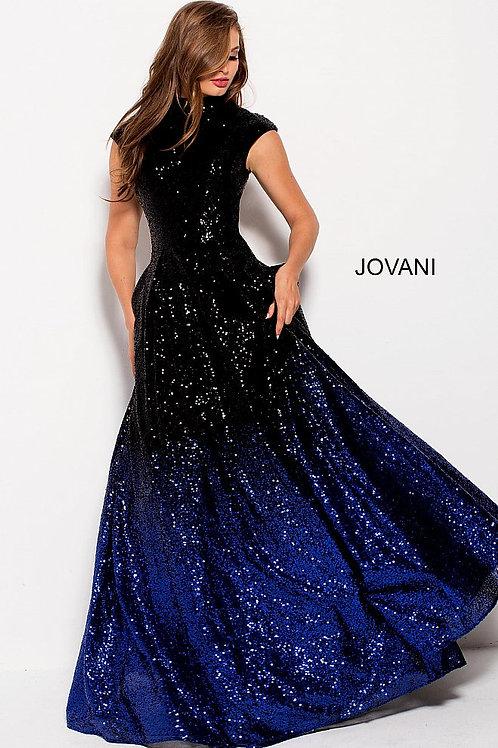 JOVANI 60497 BLACK/ROYAL BALL GOWN