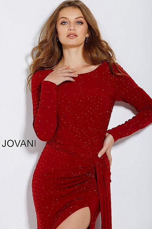 JOVANI 62956 RED LONG SLEEVE