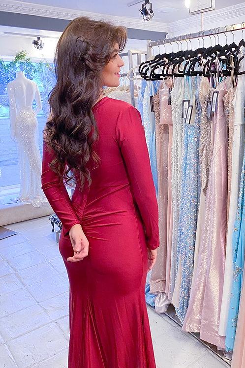 Bodycon Burgundy Dress