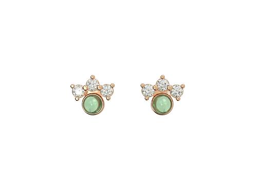 Boucles d'oreille intemporelles & assortiment vert