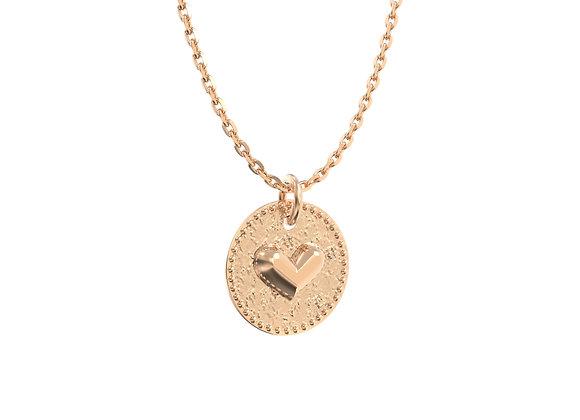Collier médaille en or 18 carats - une preuve d'amour