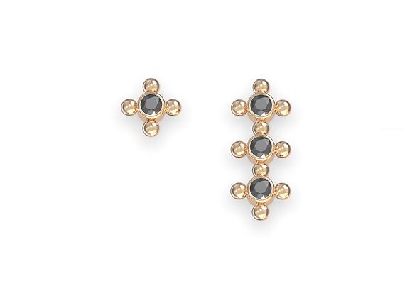 Boucles d'oreille - Assortiment Petite galaxie en or 18 carats