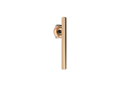 Boucle d'oreille en or 18 carats, baguette longue