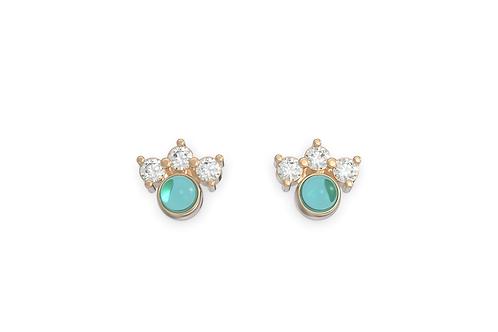 Boucles d'oreille intemporelles & Assortiment Bleu azur