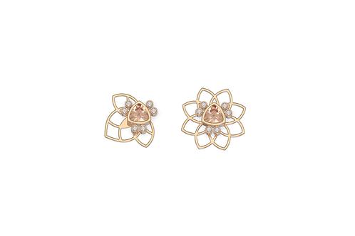 Boucles d'oreille - Assortiment Bee flower nude