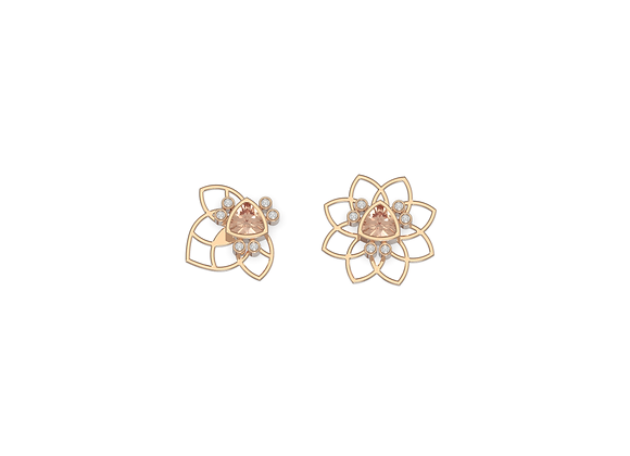 Boucles d'oreille - Assortiment Bee flower nude