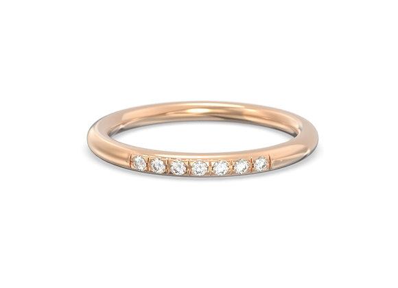 Bague en or 18 carats - Anneau serti de diamants