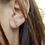 Thumbnail: Boucle d'oreille en or 18 carats - dessus/dessous sertie