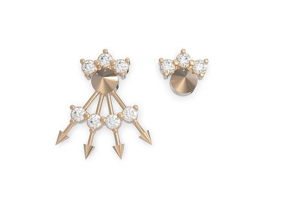 """Boucles d'oreille intemporelles & Assortiment """"Chic & Choc"""" en or rose 18 carats"""