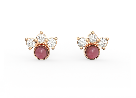 Boucles d'oreille intemporelles & assortiment automnal rose