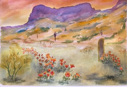 Sunset Picacho Peak
