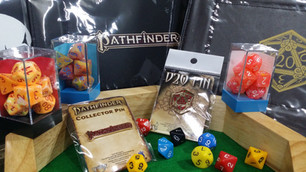 Dice sets, trays and pins.. oh my!