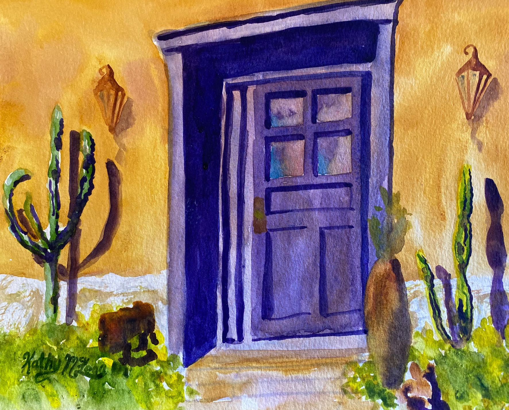 Purple Barrio Door 1