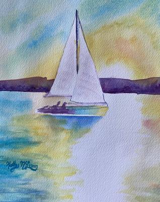 Sunset Sail in Cerulean