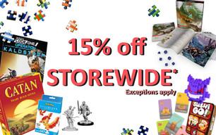 15% STOREWIDE