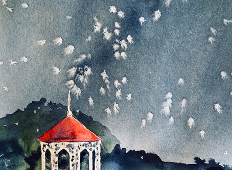 Another easy and fun painting class - no talent needed - in Helen, GA, June 29: Star Gazing Gazebo