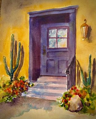 Purple Barrio Door