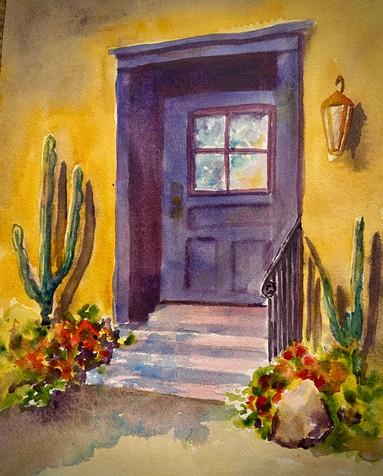 Purple Barrio Door 2