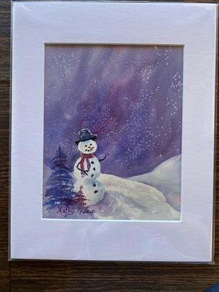 Snowman in purple