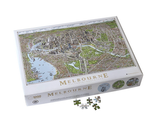Melbourne Map puzzle Back in Stock
