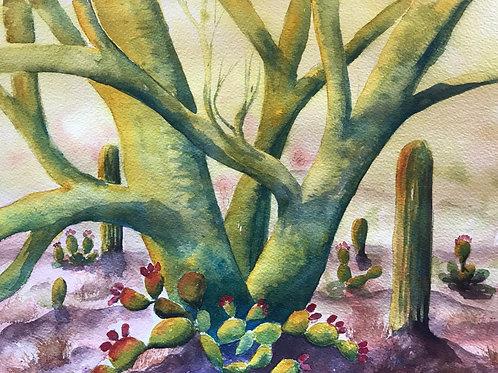Pale Verde Nursery Painting