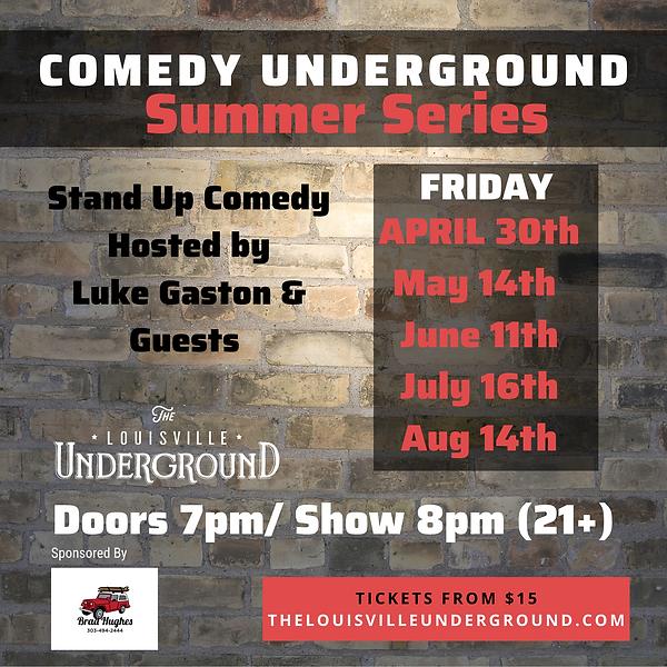 Comedy Underground Summer Series (IG).pn