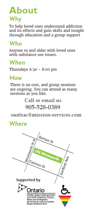 Partners In Recovery Poster (Pt2) - Thursdays 6:30-8:00 pm, 196 wentworth, 905-528-0389