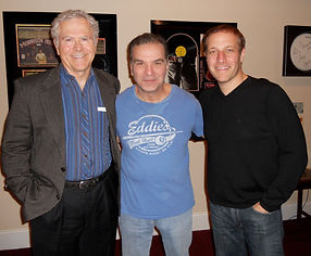 "Author Homer Hickam (""October Sky""), actor Alan Safier (""Say Goodnight, Gracie"") and pianist Jim Brickman (""Valentine"")  backstage after a ""Gracie"" performance."