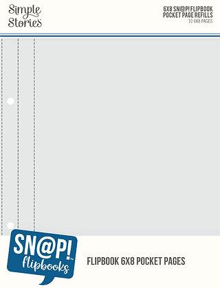 6x8 Snap! Flipbook Pocket Page Refills