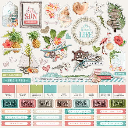 Coastal Combo Cardstock Stickers