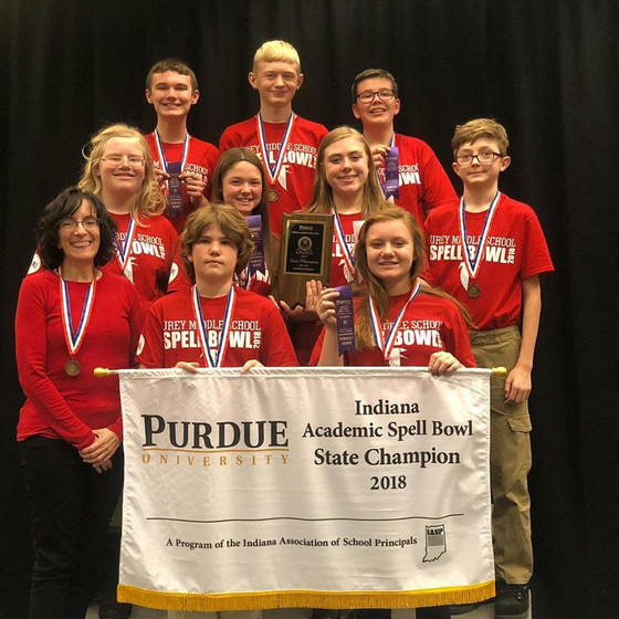 Urey Middle School Spelling Bowl Team Wins State Championship