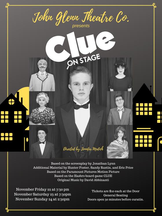 """Clue"" Coming To The John Glenn Theater"