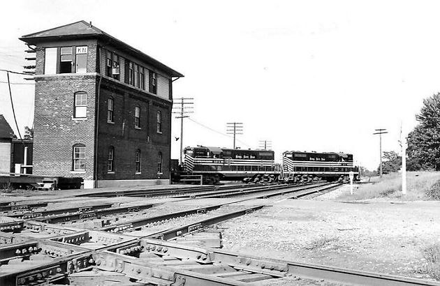 Union Pacific Passenger Service Travels Through Walkerton