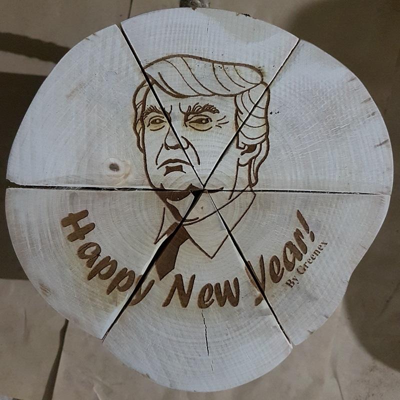 Вязанка дров с Дональдом Трампом