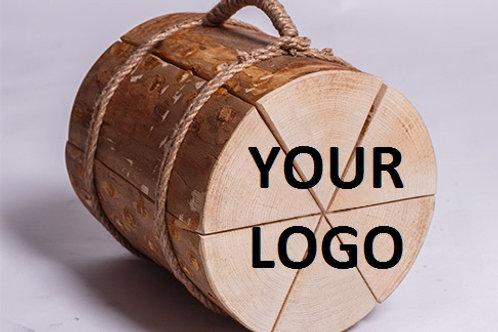 Вязанка береза с логотипом заказчика 20л