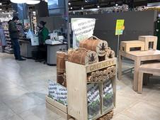 Малая стойка GREENEX в супермаркете