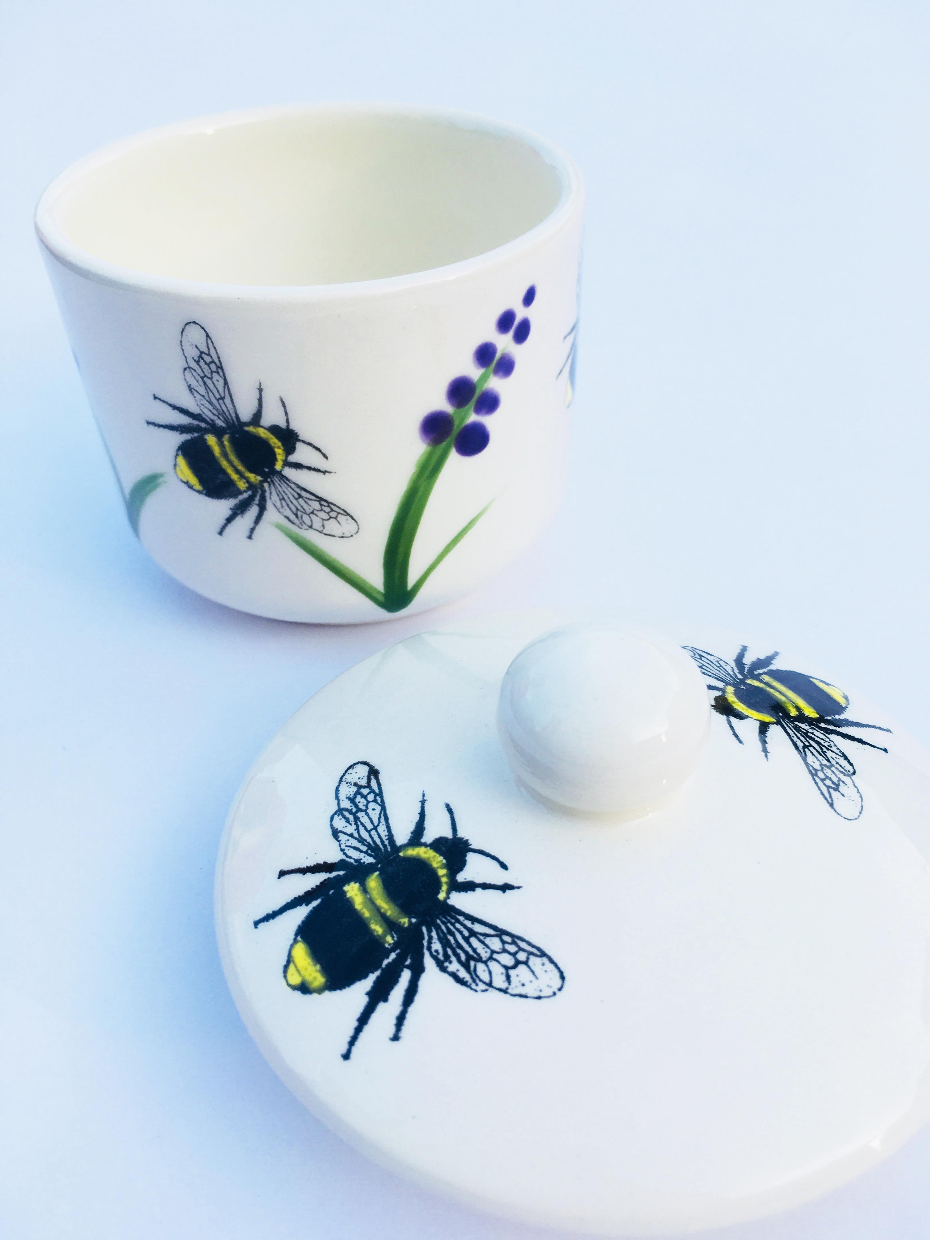 Bee and Lavender sugar bowl