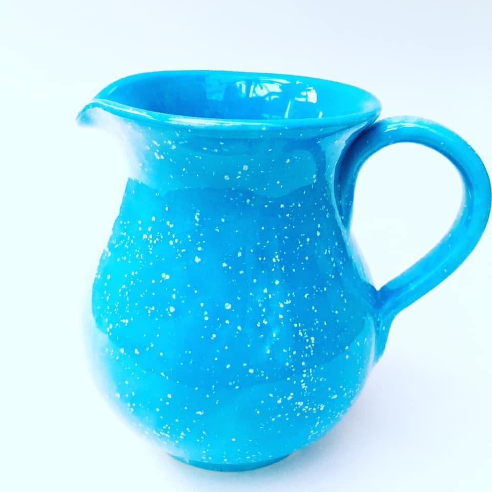 Half litre turquoise speckled jug