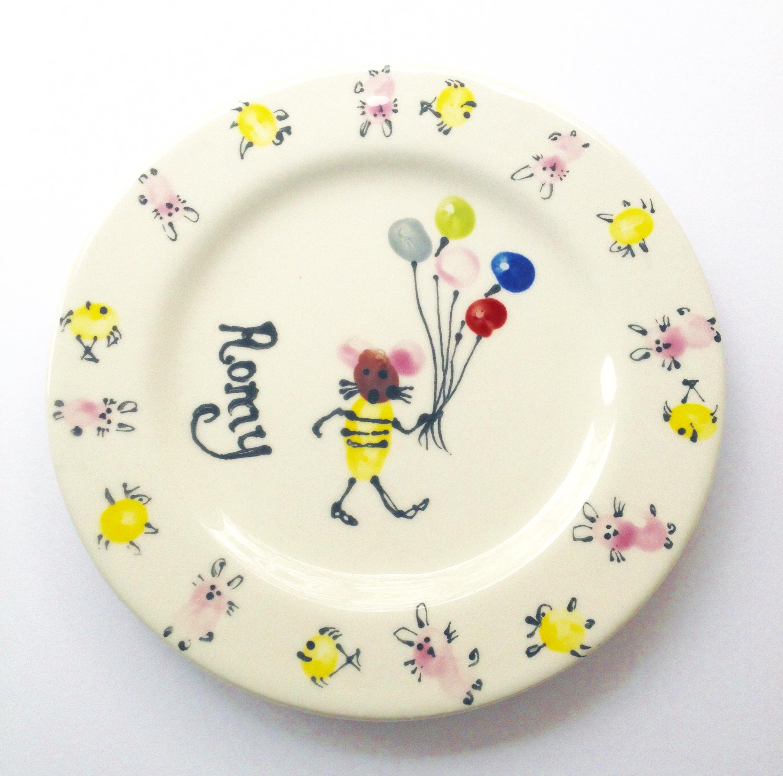 Fingerprint personalised plate