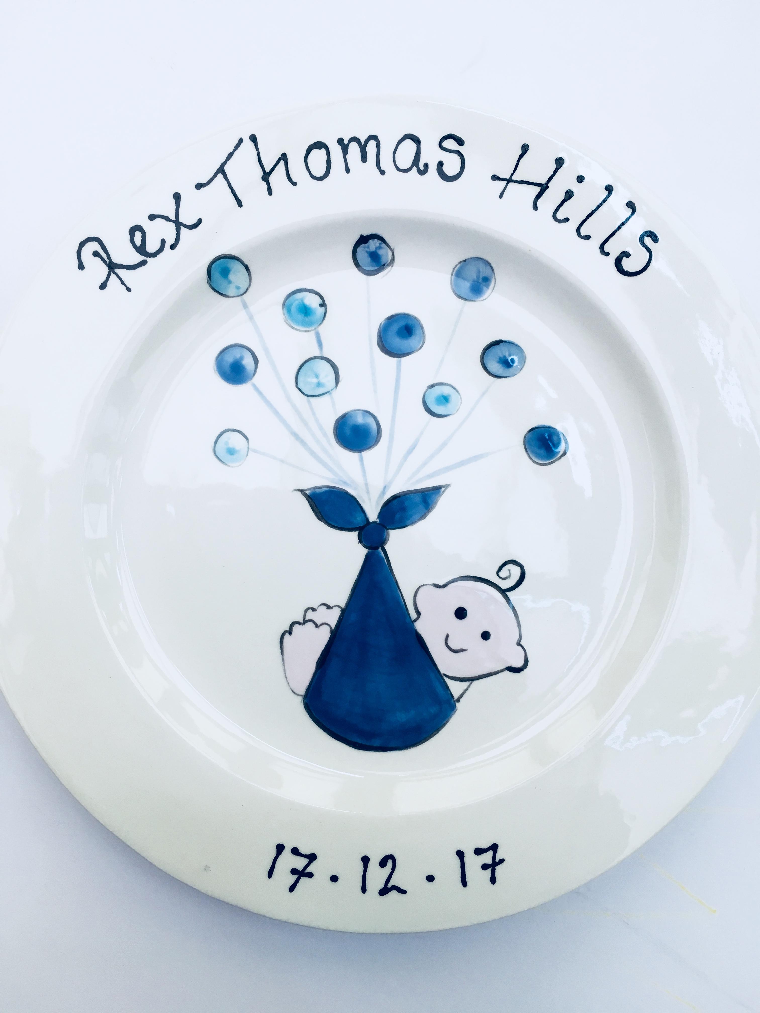 Commemorative baby plate