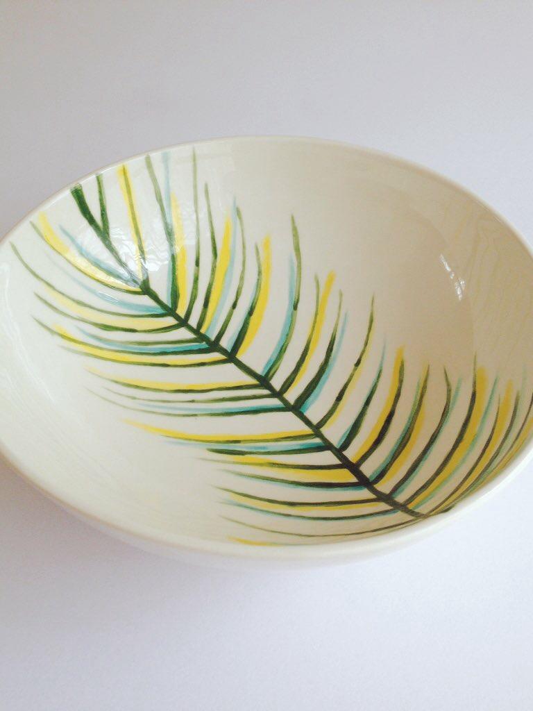 Hand painted leaf design