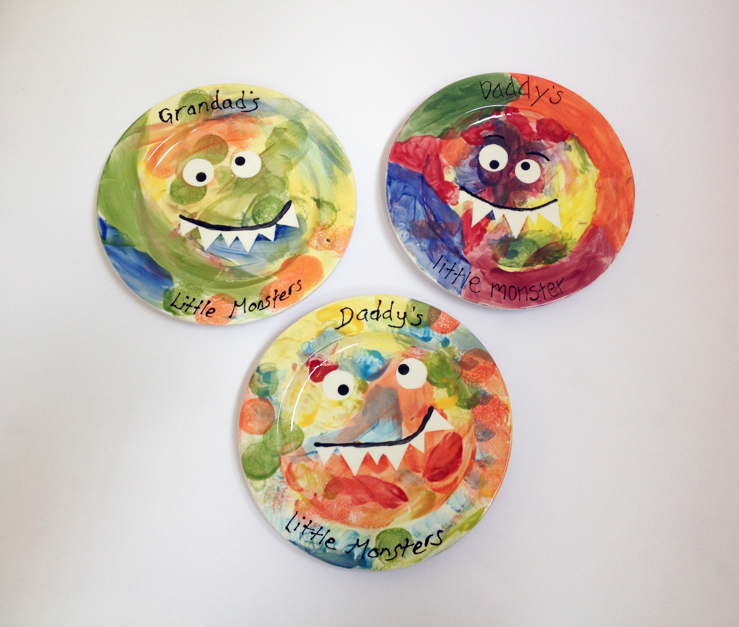 Daddy's little monster plates