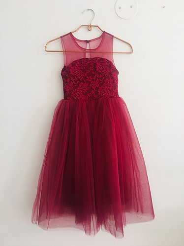 Mesh Lace Flower Girl Dress