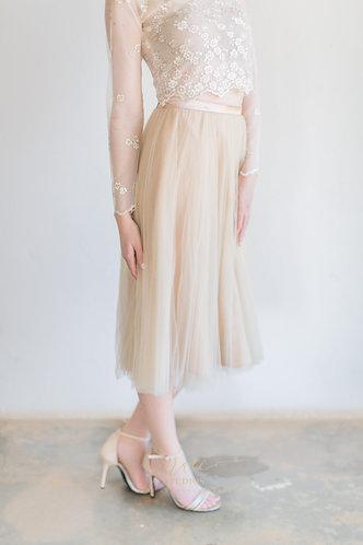 Three- Quarter Tulle Skirt