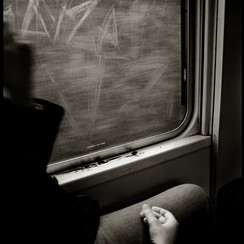 On a train, somewhere in France 2005