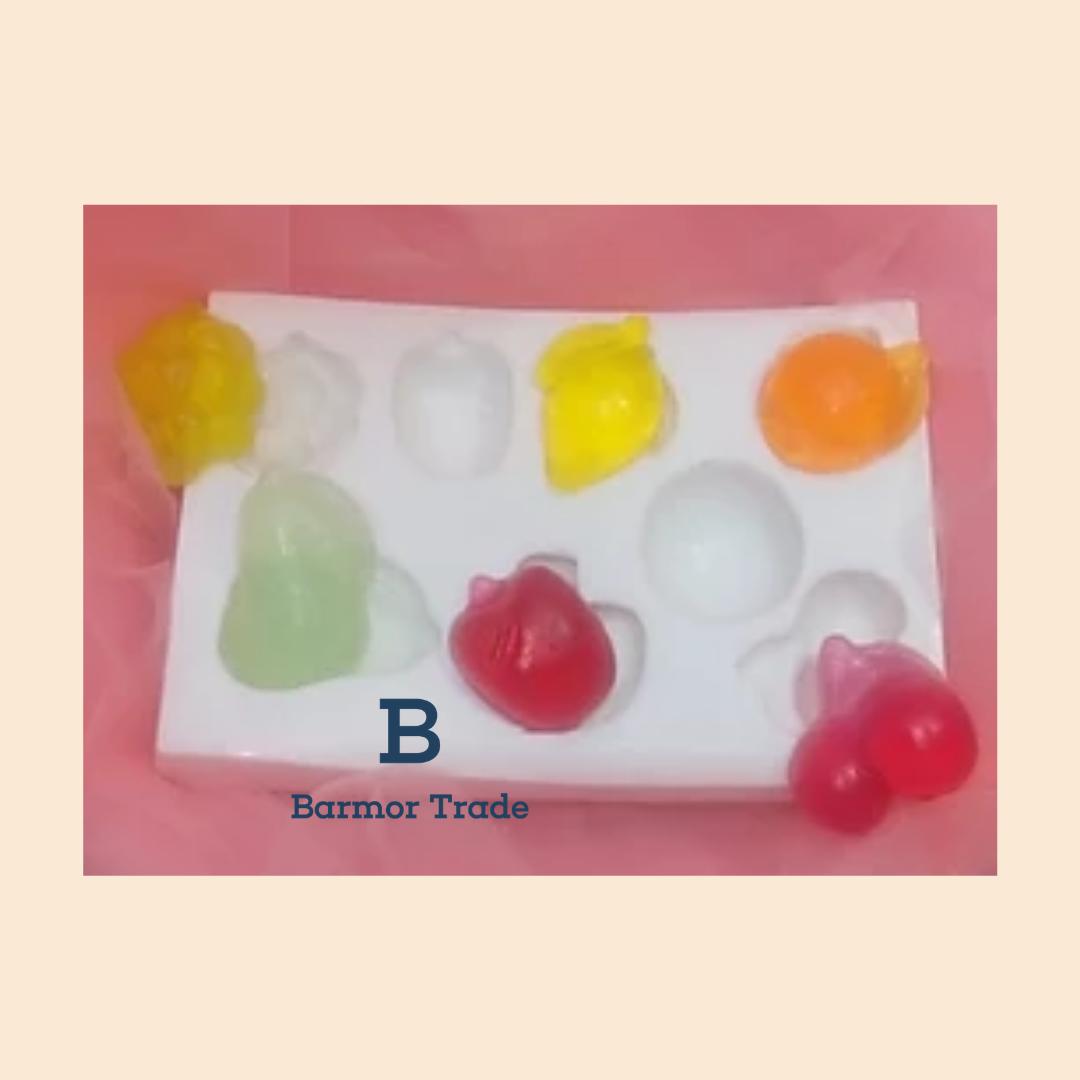 molde de frutas
