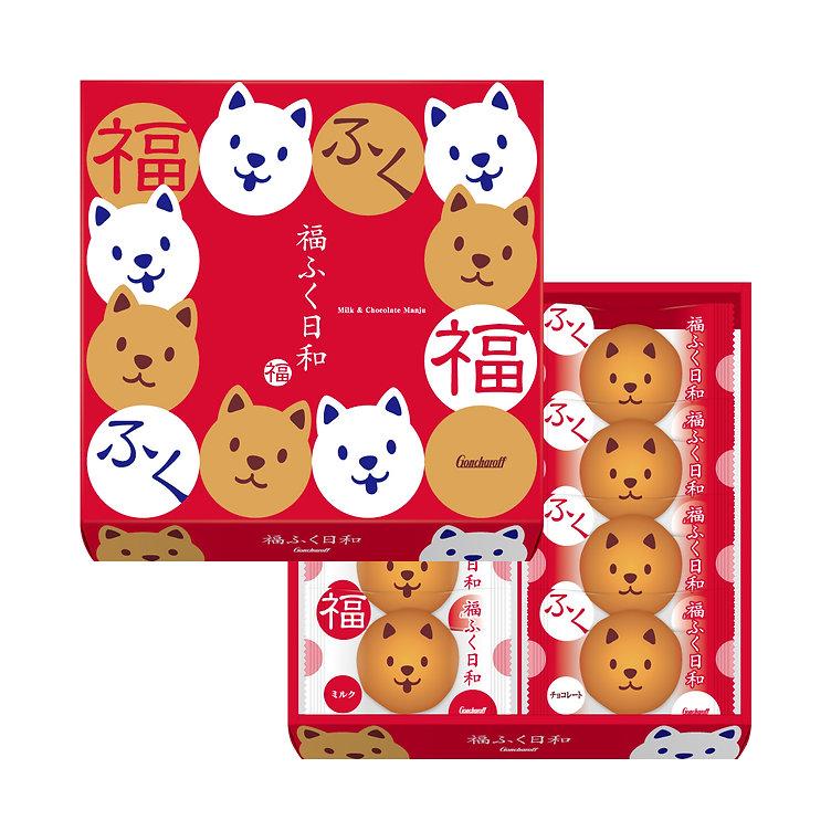 パッケージデザイン 福ふく日和 饅頭